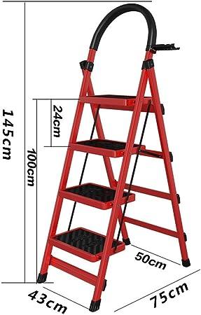 HAOHAODONG Escalera de Espiga Escalera Plegable telescópica Escalera de Cinco peldaños Escalera portátil Escalera para el hogar Soporte Escalera móvil para Cinco Pasos Paso,3: Amazon.es: Hogar