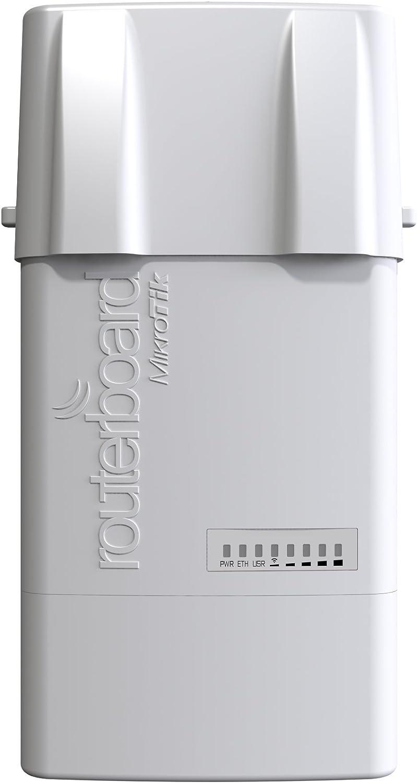 Mikrotik BaseBox 5 - Punto de Acceso (10,100,1000 Mbit/s, 4.9-5.9 GHz, 64 MB, Qualcomm Atheros AR9342, USB Tipo A, Wi-Fi,Ethernet (RJ-45))