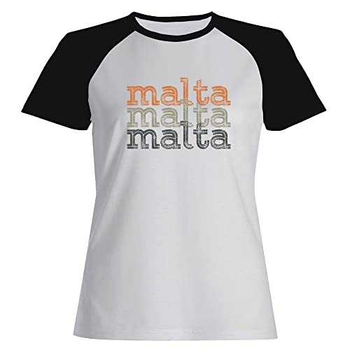Idakoos Malta repeat retro - Paesi - Maglietta Raglan Donna