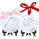 Baby Handprint Footprint Ornament Keepsake Kit - Personalized Baby Prints Ornaments for Newborn - Baby Nursery Memory Art Kit Easel - Baby Shower Gifts Boys, Girls - Perfect Baby Registry Gift Box