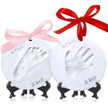 Amazon.com : Baby Handprint Footprint Ornament Keepsake Kit