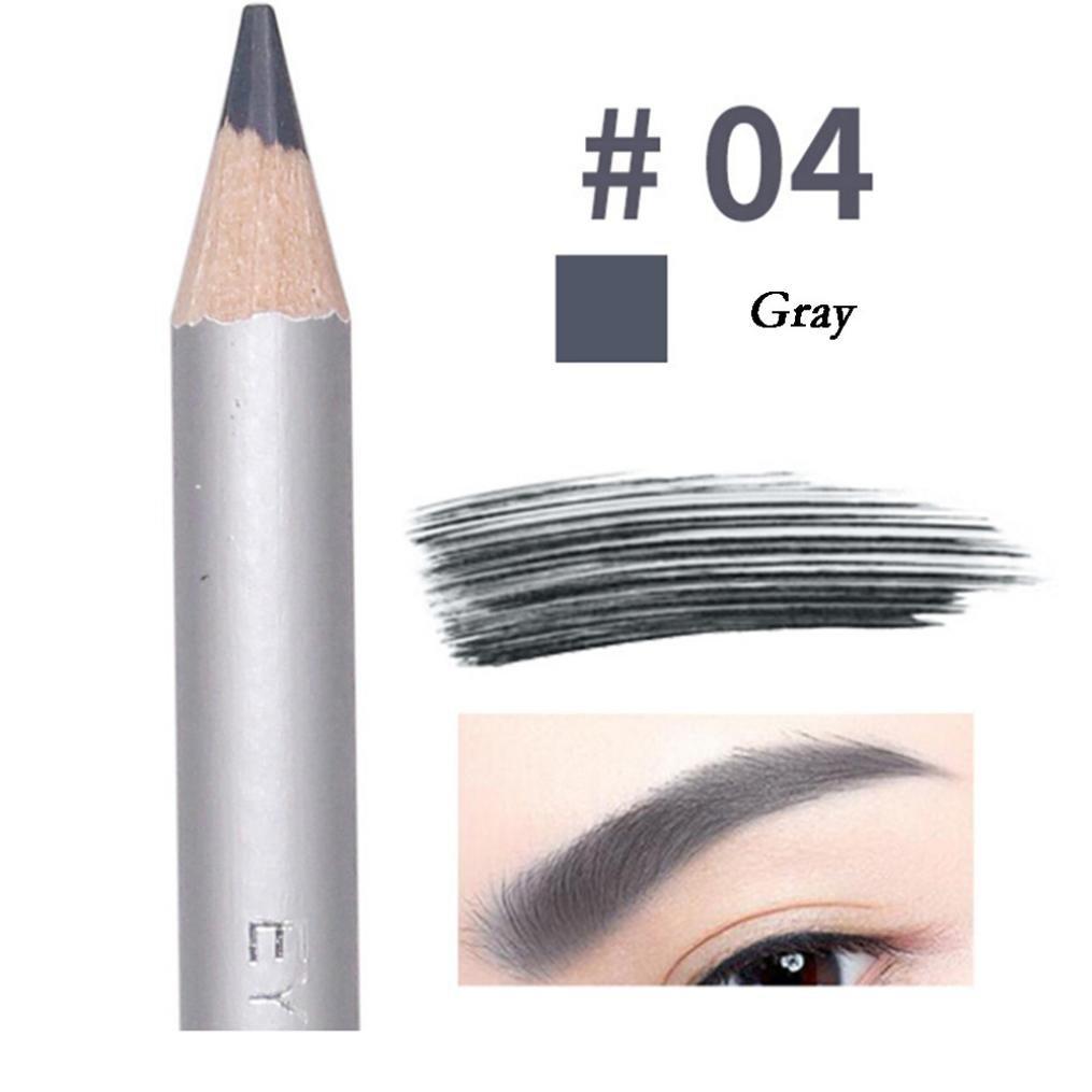 Waterproof Eyebrow Pencil for Girls, Iuhan Fashion Waterproof Eyebrow Pencil Cosmetics Eye Beauty Tools Beautiful Eyebrows Pen (Gray)