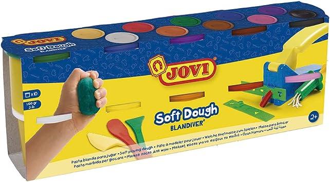 Jovi - Soft dough Blandiver, pack de 10 botes 110 g, colores ...