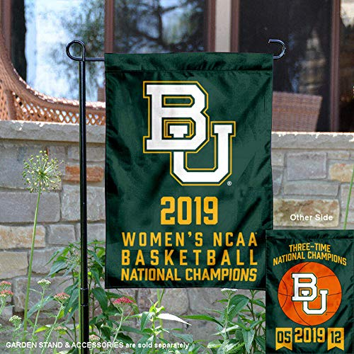 (College Flags and Banners Co. Baylor Bears 2019 NCAA Womens Final Four Basketball Champions Garden Flag)