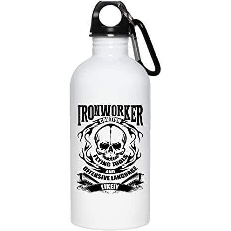 Amazon com: Ironworker Caution Flying Tools And Offensive