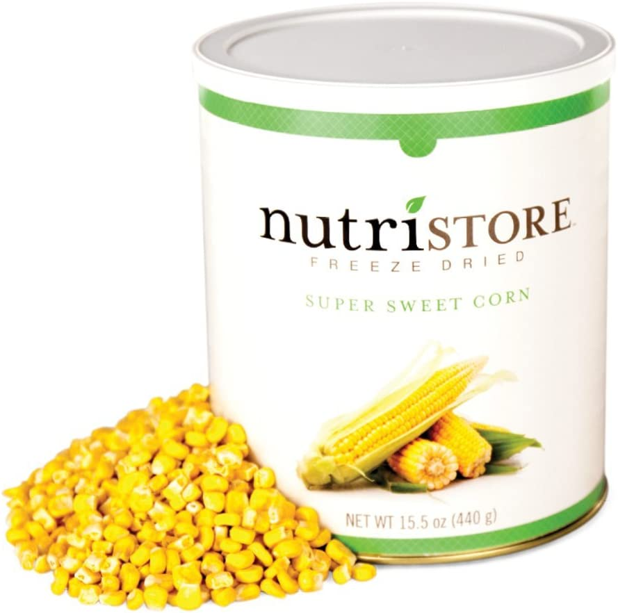 Nutristore Freeze Dried Corn | 40 Servings | 15.5 oz | 25 Year Shelf Life | Amazing Taste | Healthy Snack for On The Go | Emergency and Survival Food (1-Pack)