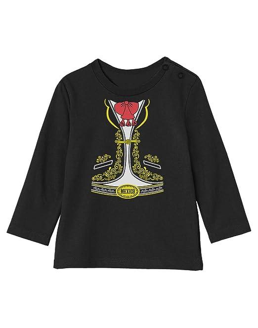 be48367dd Camiseta bebé Unisex Manga Larga - Disfraz de Charro Mexicano para Niños en  Halloween  Amazon.es  Ropa y accesorios