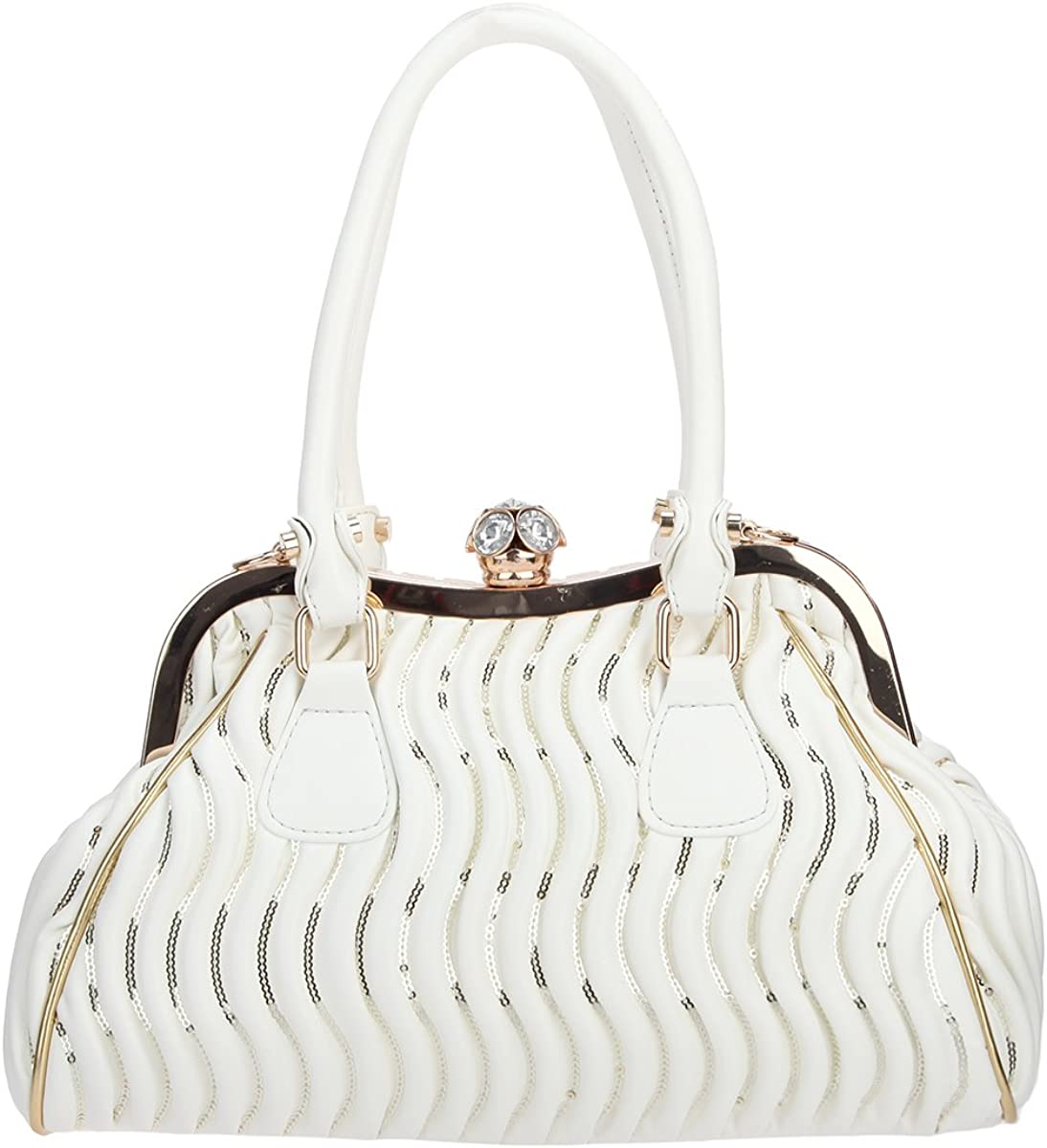 Bonjanvye Butterfly Spherical Crystal Ball Hand Bags and Pu Leather Purse for Women Bags