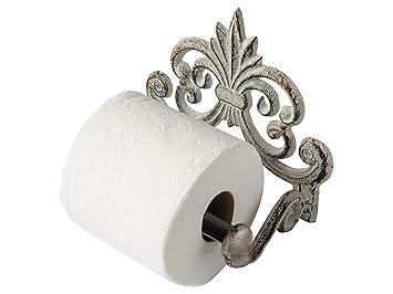 Amazoncom Comfify Fleur De Lis Cast Iron Toilet Paper Roll Holder