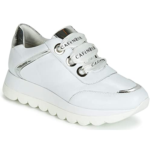 CAFE`NOIR 203 Bianco Scarpa Donna Sneakers DB151: Amazon.it