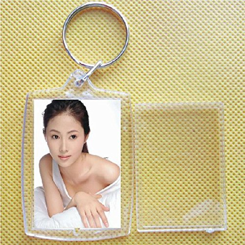 Price comparison product image SINEDY 1 Piece Blank Insert Photo Picture Frame Key Ring Chain