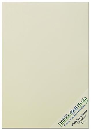 Amazon.com: 50 Soft White Translucent - 17# (17 lb/pound) Thin ...