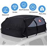 Car Roof Bag Cargo Carrier, 20 Cubic Feet Waterproof Rooftop Cargo Carrier Bag Vehicle Soft-Shell Carriers with Storage…