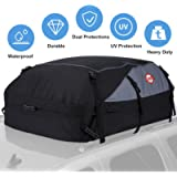 Car Roof Bag Cargo Carrier, 15 Cubic Feet Waterproof Rooftop Cargo Carrier Bag Vehicle Soft-Shell Carriers with Storage…