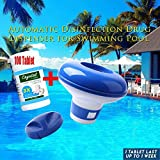 Magic Pool Cleaning Tablet & Floating Dispenser (100 Tablets 1 Bottle+Dispenser 1pc)