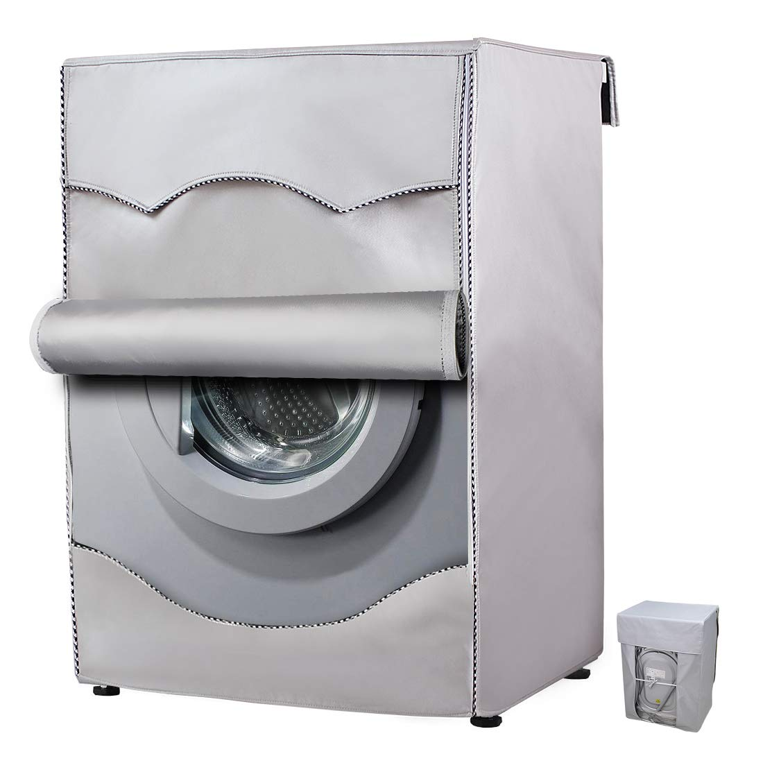 Washer/Dryer Cover for Front-Loading Machine Waterproof dustproof Thin (W27 D33 H39 in, No lace)