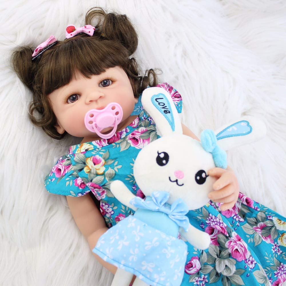 Amazon.com: BZDOLL - Muñeca de vinilo de silicona para bebé ...