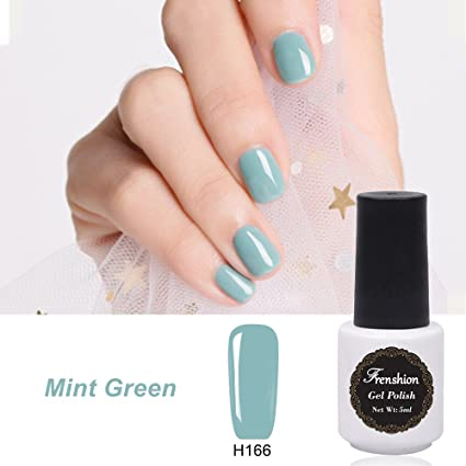 Frenshion 5ml Gel Nail Polish Semi Permanent Empapa del Kit de Manicura UV Polish Manicure Mint