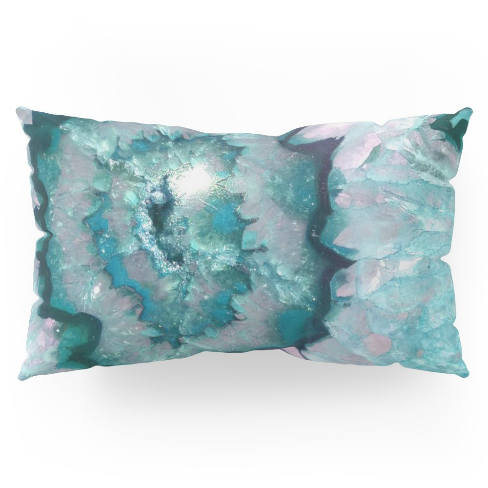 Society6 Teal Agate Pillow Sham King (20'' x 36'') Set of 2