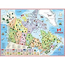 Illustrated map of Canada for kids