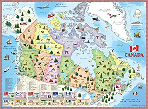 Pics Of Canada Map.Illustrated Map Of Canada For Kids Akros 9789871663088 Books
