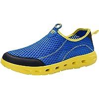 Fauean - Zapatillas de Deporte para Hombre, Ligeras, Transpirables, cómodas y Modernas, para jóvenes, Grandes, para Tenis, Color Rojo, Azul y Negro