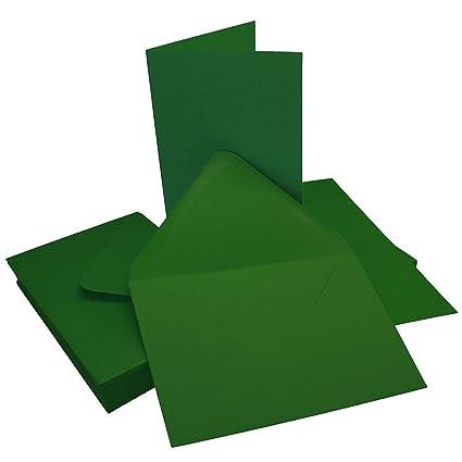 25  B6 Briefumschläge 25 Faltkarten 240 g in Gras Grün Verpackung & Versand