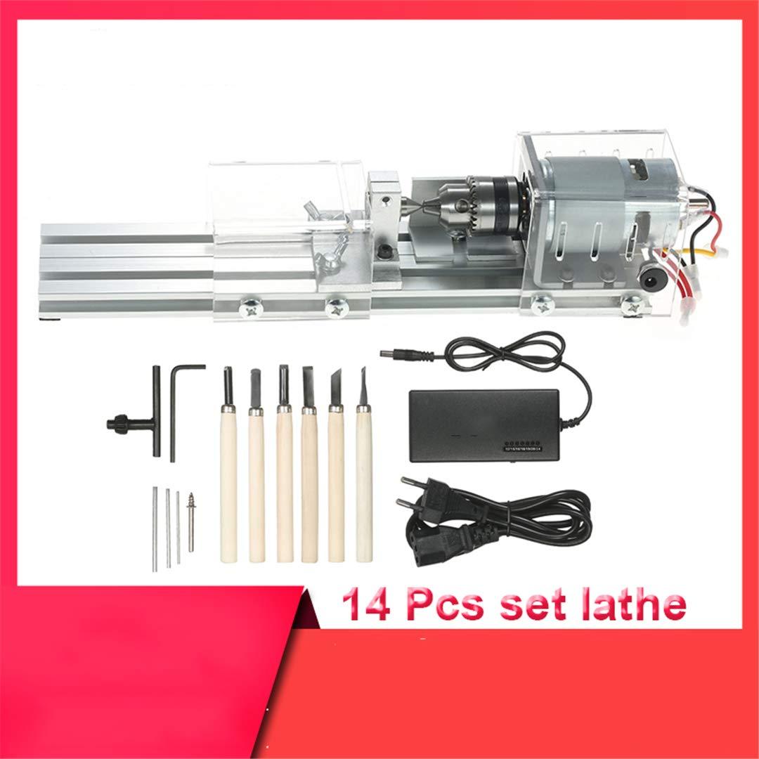 100W DIY Lathe Machine Mini Lathe Mini CNC Milling Machine Woodworking Wood Working Lathe Grinding Polishing Drill Tool