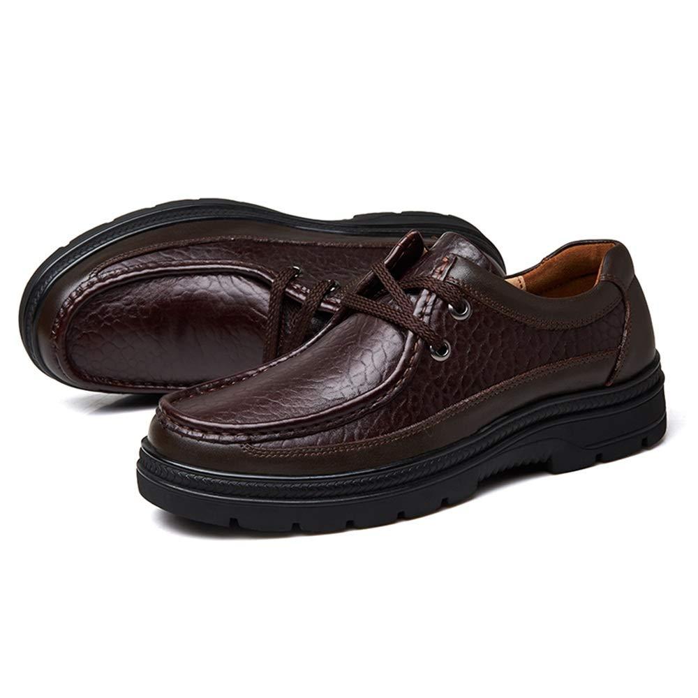 Xujw-schuhe, 2018 Schuhe Herren Herren-Halbschuhe, Mode-Business-Casual rund Zehe Fleece gefüttert Größe verschleißfesten Outdoor-Freizeit große Größe gefüttert Schuhe (Farbe   Dunkelbraun, Größe   49 EU) 3f7812