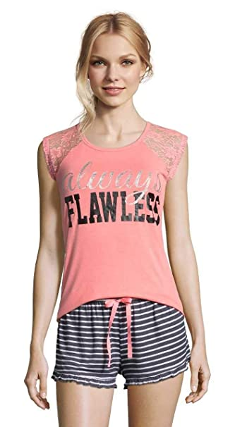 7034f536a825e Amazon.com: Sleep & Co. Womens Printed Tank Top and Shorts Sleepwear ...