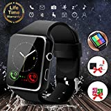 Smart Watch with Bluetooth, 1.54'' Touchscreen Smart Wrist Watch with Sim Card Slot, Camera Controller Bluetooth Watch Unlocked Smartwatch Phone for iPhone X 6 7 8 Plus Android Samsung