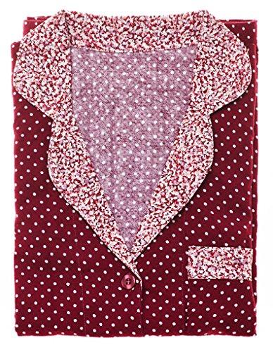 Mio Lounge Going Dotty Purple Cotton Pyjama Set MLGD1502PJ