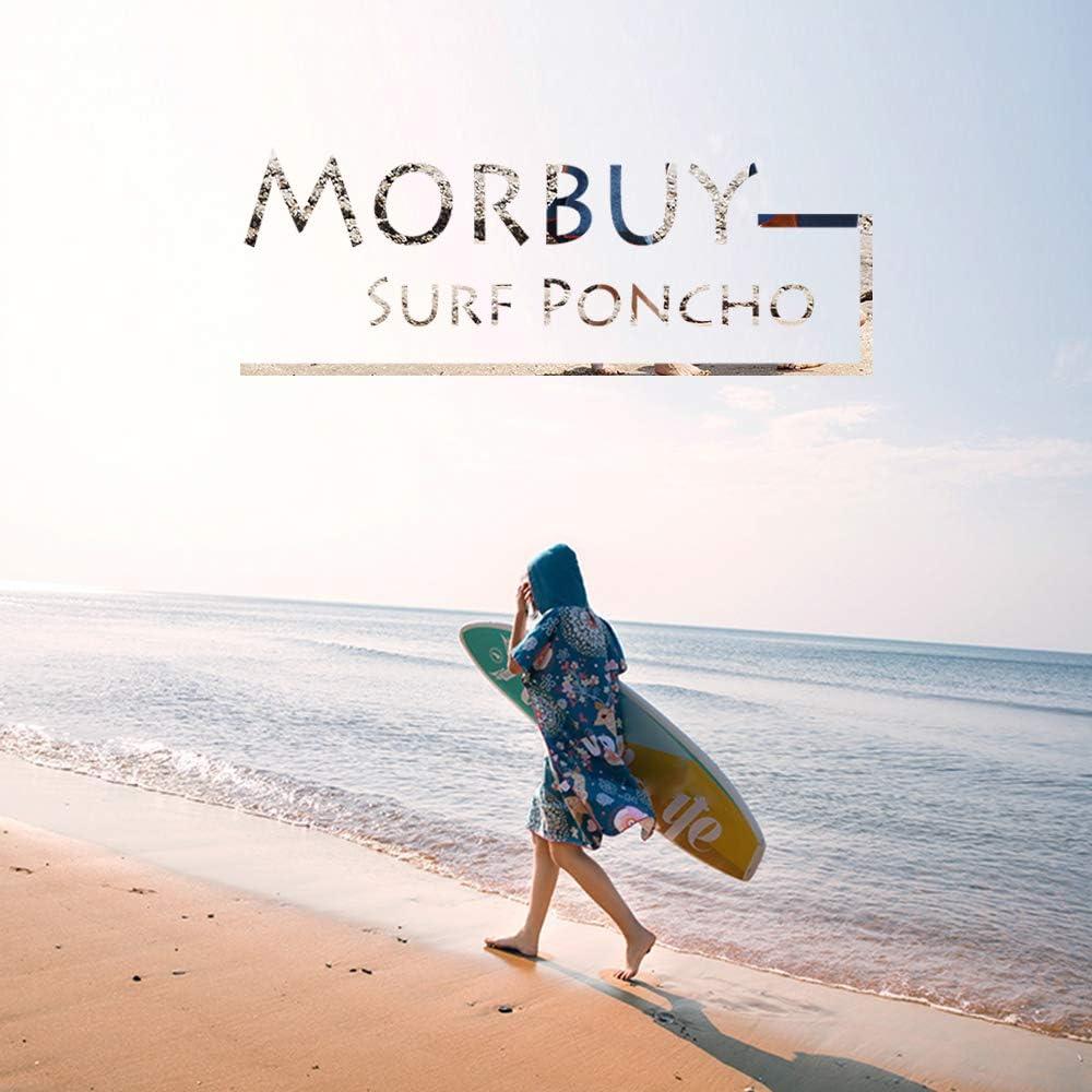 Nuoto Donne /& Uomini Morbuy Poncho con Cappuccio Stile Minimalista Geometrico Tasca Larga per Spiaggia Surf Compatto Asciugamano per Cambiarsi con Microfibra Assorbente