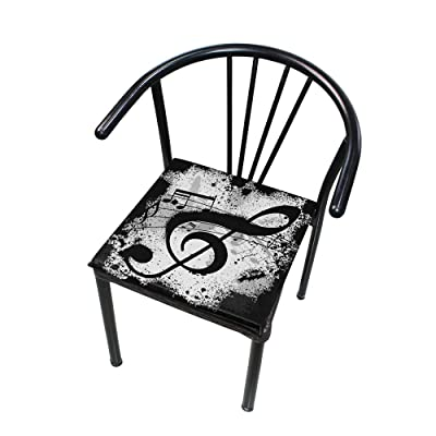 "Bardic HNTGHX Outdoor/Indoor Chair Cushion Music Note Print Square Memory Foam Seat Pads Cushion for Patio Dining, 16"" x 16"": Home & Kitchen"