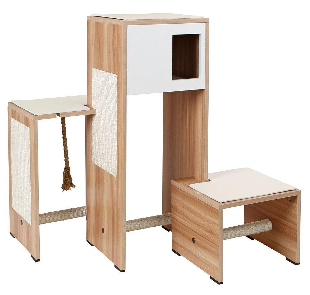 Kerbl Meuble Griffoir Ambiente pour Chats 96 X 87 X 100 cm Blanc 81521