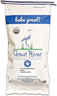 product image for Great River Organic Milling, Oatmeal, Regular Rolled Oats, Organic, 50-Pounds (Pack of 1)