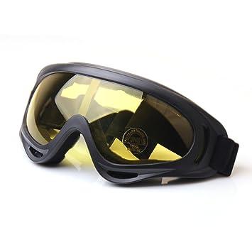 HugeStore Unisex Snowmobile Skibrille Gletscherbrille Schutzbrille Motorradbrillen Fliegerbrille Schneebrille Radsportbrille Gelb ijZsezbsFK