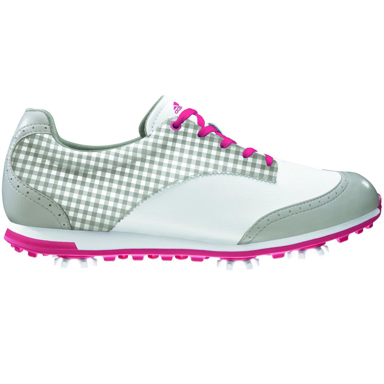 adidas Women's Driver Grace Golf Shoe,Running White/Chrome/Punch,9.5 M US