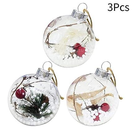 e3e08c1edbc 3 UNIDS LED Bola de Navidad Con Luces Adornos para Árboles de Navidad  Suelos de Navidad