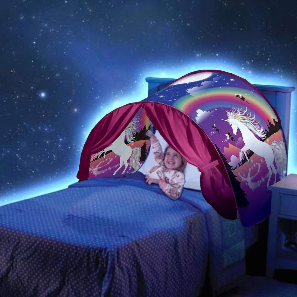 NiLeFo Tienda de campaña para niños PlayTentsPop Up BedtenCastles Regalo de cumpleaños Ropa de Cama decoración (Carpa de Copo de Nieve)