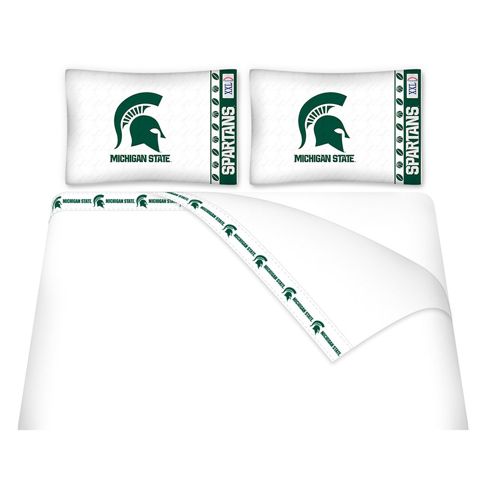 NCAA Michigan State Spartans Micro Fiber Sheet Set, Queen