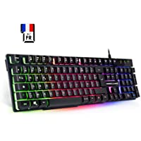 EMPIRE GAMING - Clavier PC Empire K300 – 105 touches semi-mécaniques - 19 touches anti-ghosting - 12 raccourcis multimédia Rétro-éclairé LED RGB