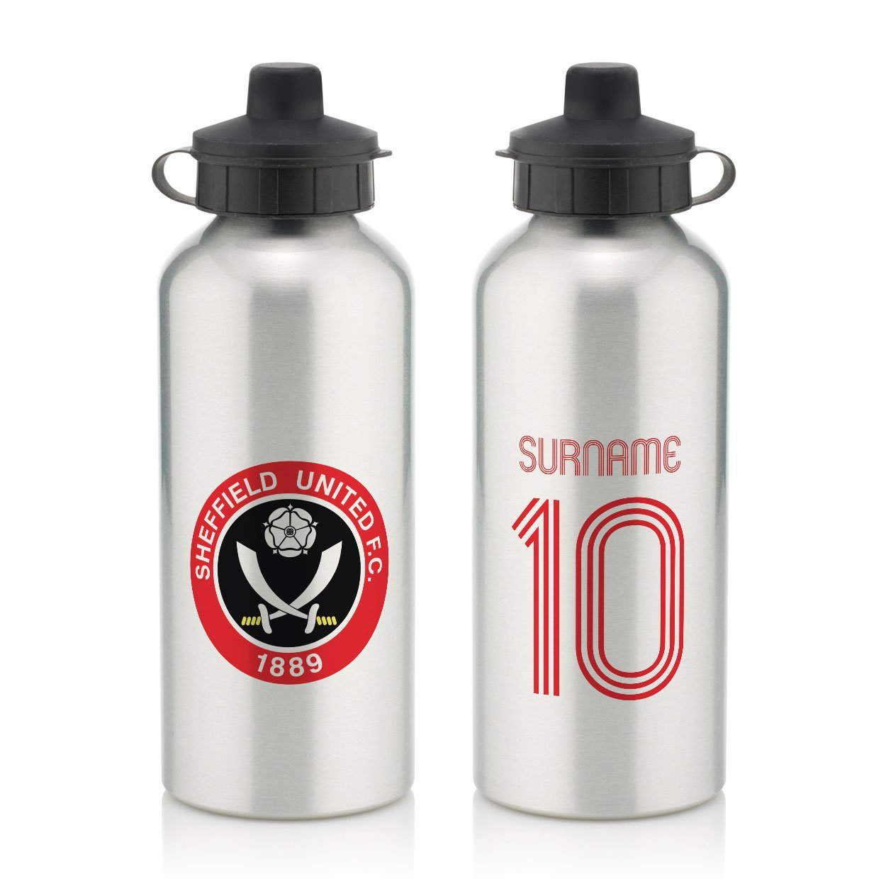 Official Personalised Sheffield United FC Retro Shirt Water Bottle