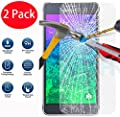 2 Pack - Samsung Tempered Glass Crystal Clear LCD Screen Protector Guard & Polishing Cloth