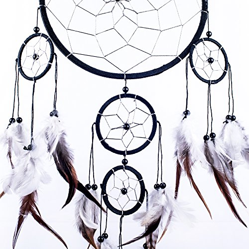 amazon caught dreams dream catcher handmade traditional black Home Channel TV amazon caught dreams dream catcher handmade traditional black white silver 8 5 diameter 22 long home kitchen
