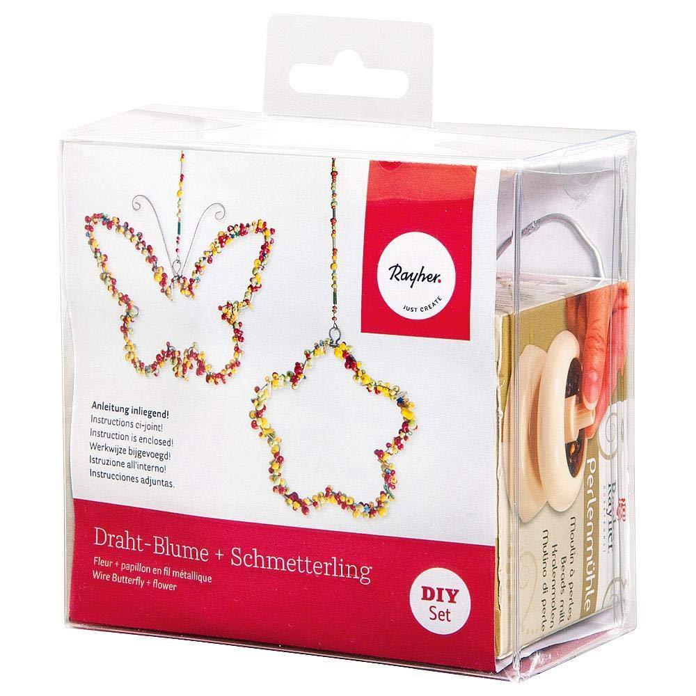 Rayher 24098000 Deko Blume mit Schmetterling, Kunststoff, Gemischt ...
