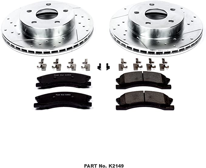 Z23 Front and Rear Brake Kit-Drilled//Slotted Brake Rotor /& Carbon Ceramic Brake Pads Power Stop K8166