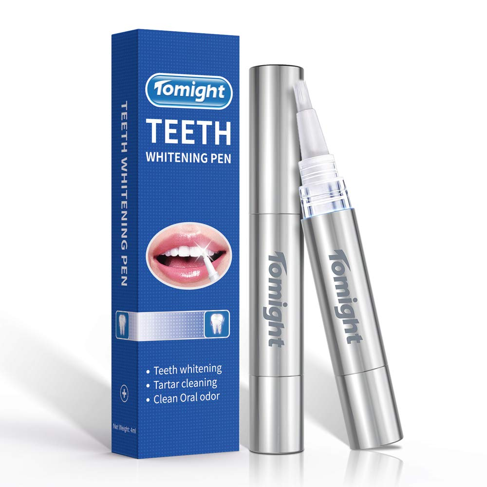 Tomight [2 Pack] 4 ML Teeth Whitening Pen 35% Carbamide Peroxide Gel, 40+ Uses, Effective, Painless, No Sensitivity, Travel-Friendly, Easy To Use, Beautiful White Smile