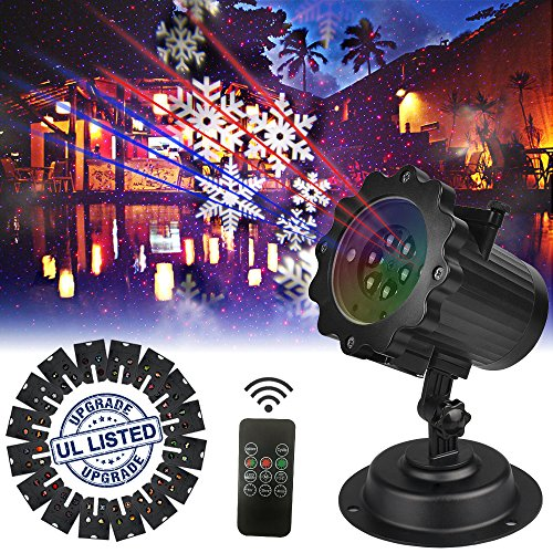 elementdigital laser projector lights landscape christmas lights moving snowflake led outdoor landscape laser projector lamp garden