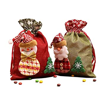 Christmas Ornament Design Homemade Fabric Gift Bag